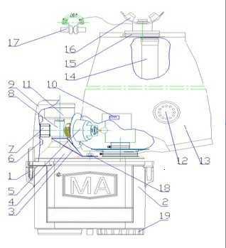 压缩氧自救器结构图
