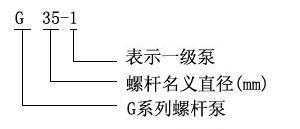 G型单螺杆泵型号